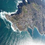 View over Mossel Bay from aeroplane